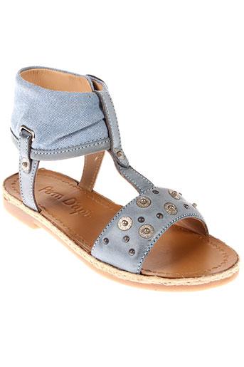 pom et d et api sandales et nu et pieds fille de couleur bleu