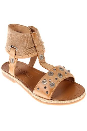 pom et d et api sandales et nu et pieds fille de couleur beige