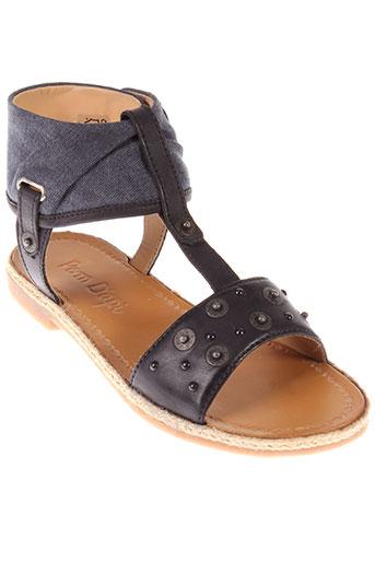 pom et d et api sandales et nu et pieds fille de couleur noir