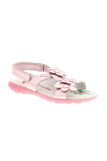 naturino sandales et nu et pieds fille de couleur rose