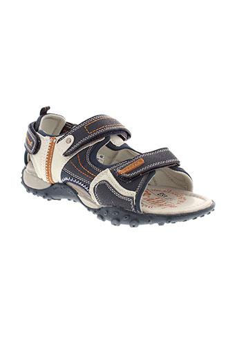 bopy sandales et nu et pieds garcon de couleur bleu