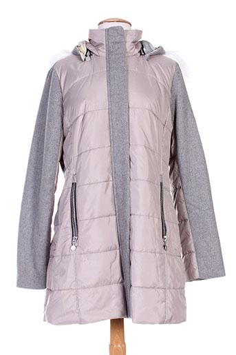 7 et seasons manteaux et courts femme de couleur gris (photo)