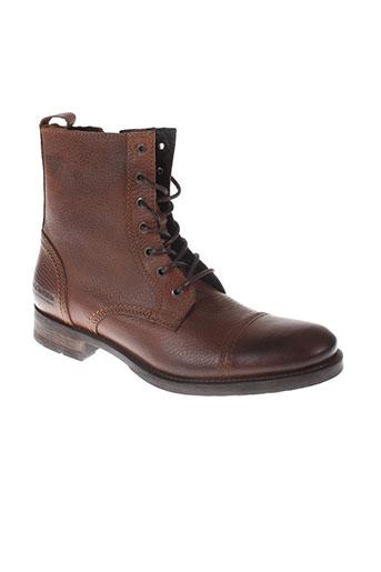 jack et jones boots homme de couleur marron
