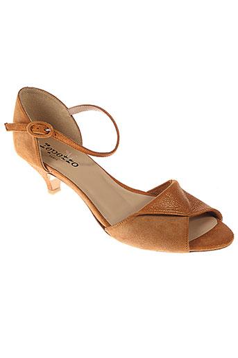 repetto sandales et nu et pieds femme de couleur orange