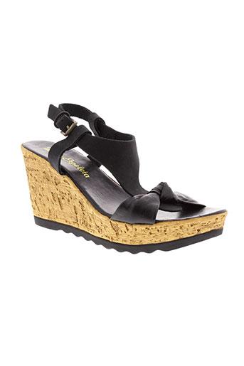 lola et espeleta sandales et nu et pieds femme de couleur noir